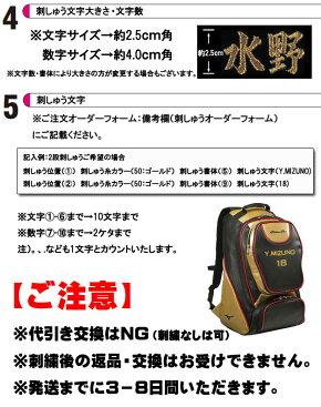 【限定モデル!刺しゅう無料!】ミズノプロバックパック1FJD8904送料無料リュック野球mizunopro