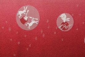 【レンタル】半幅帯 レンタル 〔お好きな帯を選べる変更オプション〕赤・月ウサギ(春秋冬用/女性用)【返却送料無料】