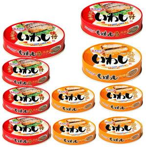 訳あり特価 極洋 缶詰 イワシ缶 いわし 缶詰 味噌煮 いわし味付 100g 2種20缶セット 関東圏送料無料