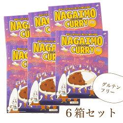長野県産長いも使角切り&すりおろし長いもと豚ひき肉のNAGAIMOCURRY6個セット信州名産長芋を使用した小麦粉不使用のカレーグルテンフリーレトルト