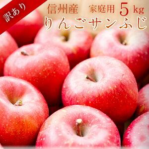 【信州産】 訳ありサンふじりんご5kg ご家庭用リンゴ長野県産直 お取り寄せフルーツ