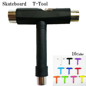 スケートボード Tツール スケボー skateboard 調整工具 スケボーツール デッキ ビス 組み立て コンプリート トラック ウィール ベアリング 取り付け 工具 T字 ツール T-tool