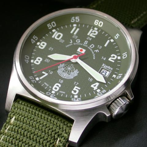 【送料無料】自衛隊腕時計/陸上自衛隊スタンダードモデルS455M-01正規品 陸自 JGSDF 日本製ミリタリー時計 JSDF KENTEX ケンテックス【楽ギフ_包装】