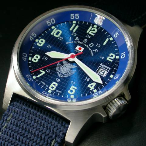 【送料無料】自衛隊腕時計/航空自衛隊スタンダードモデルS455M-02正規品 日本製ミリタリー時計 JSDF KENTEX ケンテックス【楽ギフ_包装】