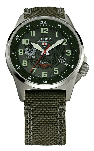 Kentex自衛隊腕時計:J-SOLAR陸上自衛隊ソーラースタンダードモデルS715M-01正規品 JGSDF ケンテックス