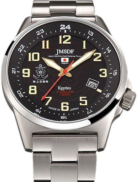 Kentex自衛隊腕時計:J-SOLAR海上自衛隊ソーラースタンダードメタルバンドモデルS715M-06正規品 JMSDF ケンテックス