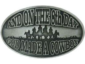 ウエスタンベルトバックル God Made a Cowboy メンズ 男性【レターパックライト可】