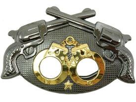 ウエスタンベルトバックル★Handcuffs and Crossed Guns メンズ 男【レターパックライト可】
