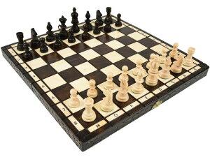 ポーランド製 ハンドメイド 木製 チェス セット Olympia(オリンピア)ブラウン35cm×35cm chess set 駒盤 数量限定販売【楽ギフ_包装】