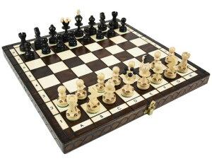 ポーランド製ハンドメイド木製チェスセット:Ares(アレス)ブラウン35cm×35cm chess set 駒盤 数量限定販売【楽ギフ_包装】
