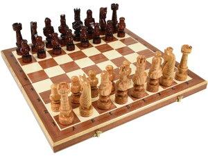 木と手作りの温もり特大高級木製チェスセット:Caesar(カエサル)59.5cm×59.5cm ポーランド製 chess駒盤 数量限定販売【楽ギフ_包装】