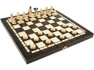 チェス + チェッカー セット 木製 ポーランド製 35cm×35cm chess & Checkers set駒盤 数量限定販売【楽ギフ_包装】
