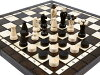 chess & Checkers set piece board amount limited sale made in tree and handmade warmth wooden chess + checker set 35cm *35cm Poland