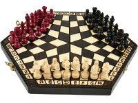 三人用木製チェスセット:Troika(トロイカ)ルール説明書付【楽ギフ_包装】