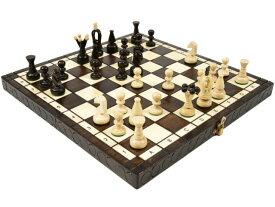 ポーランド製 木製カラーチェスセットchess set:Charis(カリス)ブラウン 35cm×35cm 木製 駒 盤 数量限定販売【楽ギフ_包装】