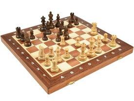 高級 木製 チェスセット:アメリカン クラシック ナイト アカシア 40cm×40cm ポーランド製 American Classic Knight Acasia chess set 駒盤 数量限定販売【楽ギフ_包装】