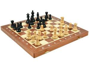 高級 木製チェスセット ポーランド製:アメリカン クラシック ナイト エボナイズド(黒檀仕上げ) 40cm×40cm American Classic Knight Ebonized Chess Set 駒盤 数量限定販売【楽ギフ_包装】