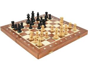 高級 木製チェスセット ポーランド製:フレンチ ナイト エボナイズド(黒檀仕上げ) 40cm×40cm French Knight Ebonized Chess Set 駒盤 数量限定販売【楽ギフ_包装】