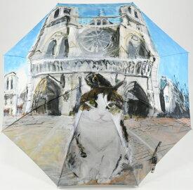 マンハッタナーズ傘 かさ Manhattaner's 婦人用雨傘「ノートルダムの敬虔なフェデリコ」長傘(手開き) 耐風傘 レディース 女【楽ギフ_包装】