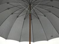 カーボン骨の大判無地16本骨雨傘トラッド16ロングカーボン(グレー)前原光栄商店の日本製メンズ長傘男