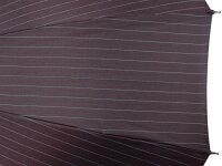 前原光榮商店おしゃれで丈夫なストライプ柄ジャガード16本骨雨傘(レッドブラウン)前原傘かさ皇室御用達前原光栄商店製紳士用男【楽ギフ_包装】