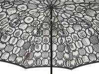 スティグ・リンドベリ&槙田商店コラボジャガード長傘FRUKTLADA/フルクトラーダ(ブラック)フルーツボックス北欧デザイン日本製雨傘晴雨兼用傘UV加工レディース女