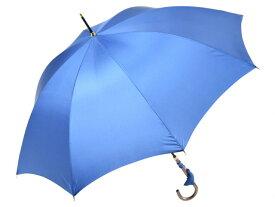 おしゃれな細巻スタイルのラタン調ハンドル 8本骨 レディース長傘(ロイヤルブルー) 親骨55cm 雨傘 かさ工房ワカオ 日本製傘 Tokyo Made WAKAO 婦人 女