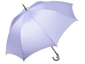 おしゃれな細巻スタイルのラタン調ハンドル 8本骨 レディース長傘(ラベンダー) 親骨55cm 雨傘 かさ工房ワカオ 日本製傘 Tokyo Made WAKAO 婦人 女