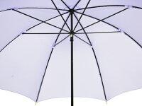 おしゃれな細巻スタイルのラタン調ハンドル8本骨レディース長傘(ライトパープル)親骨55cm雨傘かさ工房ワカオ日本製傘TokyoMadeWAKAO婦人女