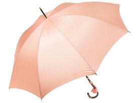 おしゃれな細巻スタイルのラタン調ハンドル 8本骨 レディース長傘 ローズ(サーモンピンク) 親骨55cm 雨傘 かさ工房ワカオ 日本製傘 Tokyo Made WAKAO 婦人 女
