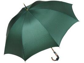 おしゃれな細巻スタイルのラタン調ハンドル 8本骨 レディース長傘(グリーン) 親骨55cm 雨傘 かさ工房ワカオ 日本製傘 Tokyo Made WAKAO 婦人 女