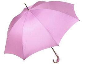 おしゃれな細巻スタイルのラタン調ハンドル 8本骨 レディース長傘(ライラック) 親骨55cm 雨傘 かさ工房ワカオ 日本製傘 Tokyo Made WAKAO 婦人 女