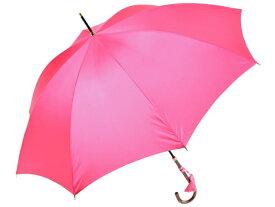 かさ工房ワカオ おしゃれなレディース長傘 細巻ラタン調ハンドル 8本骨 日本製雨傘 (ピンク) 親骨55cm Tokyo Made WAKAO 婦人 女 送料無料