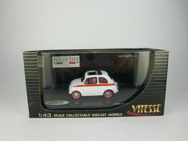 1/43 Fiat 500 Sport White 24502【VITESSE/ビテス】【657440245029】