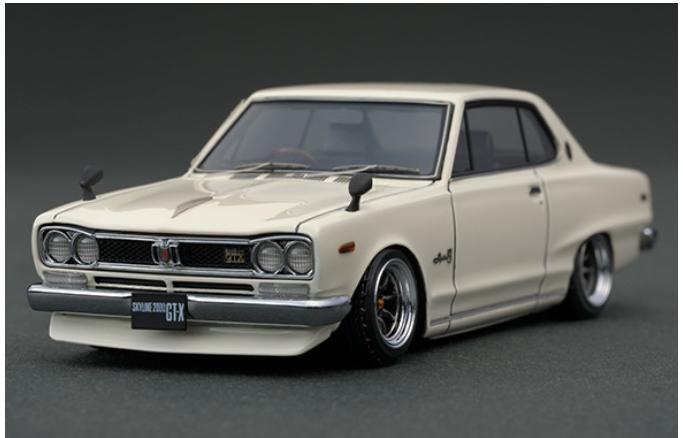 1/43 Nissan Skyline 2000 GT-X (KGC10) White IG0378 【ignition model/イグニッションモデル】【4571477903782】