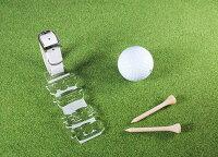 【型破りネームタグ/クリア】アクリル/オーダー/キャディバッグ/名入れ/ゴルフ用品/プレゼント《名入れ無料》