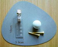 ゴルフネームプレートネームタグアクリル/透明(クリア)/ゴルフバッグ/ネームプレート/選べるベルトカラー10色/3書体《名入れ無料》《送料無料》父の日