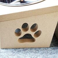 【猫食器台】ステンレスボウル傾斜肉球付き