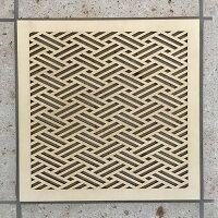 ウォールデコ組子調和風アートパネル木製菱シナ合板