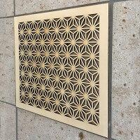 ウォールデコ組子調【和風アートパネル木製麻の葉】シナ合板