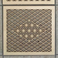 ウォールデコ組子調和風アートパネル木製麻の葉・菱