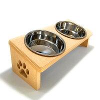 【猫食器台】