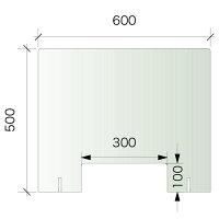パーテーションM600×500窓付