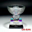 クリスタルトロフィー CR-06(中) カップ ゴルフ スポーツ 優勝 記念品《文字入れ無料》