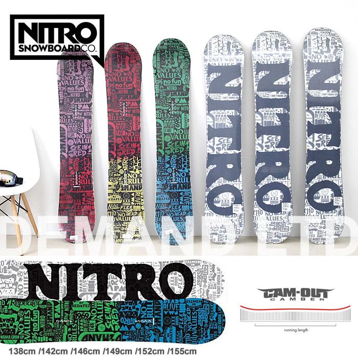 【エントリーでポイントアップP9倍〜 】スノーボード 板 ナイトロ NITRO [DEMAND LTD CAM-OUT] ボード メンズ レディース スノボ 138cm/142cm/146cm/149cm/152cm/155cm キャンバー snowboard
