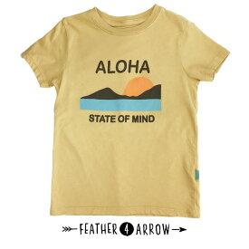 キッズ Tシャツ 半袖 親子お揃い フェザー4アロー FEATHER 4 ARROW [ Aloha State Of Mind Vintage Tee ] 子供服 親子 お揃い[メール便] [0401] フェザーフォーアロー【SPS03】