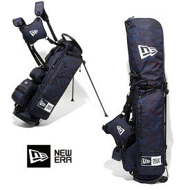 【15日マラソン最終日 最大P31倍】ゴルフバック ニューエラ NEW ERA ゴルフ golf Stand Caddie Bag (TIGER STRIPE CAMO NAVY) 11404363 キャディーバッグ newera フルセット用 【バック】