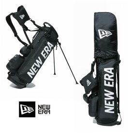 【お買い物マラソン&SPUで最大P24倍】ゴルフバック ニューエラ NEW ERA ゴルフ golf Stand Caddie Bag (BLK/WHT) 11901502 キャディーバッグ newera フルセット用