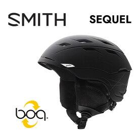 スミス スノー ヘルメット SMITH [ SEQUEL HELMET ] M.BLK BOA ボア調整 スノーボード スキー [0215]【SPS12】