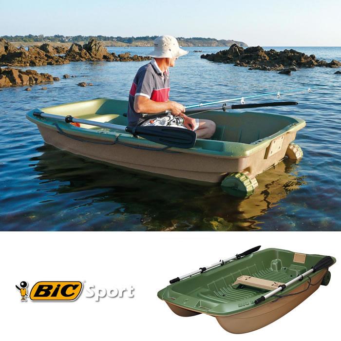 【西濃運輸営業所止め】《3人乗りボート》【BIC SPORT】 SPORTYAK245 ( Green ) BOAT 【キャンセル・代引き不可】 bic245 レジャーボート バス釣り ボート ドーリー 2馬力 免許不要【WK】